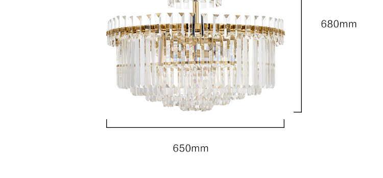 Ánh sáng hiện đại cao cấp Đèn Chùm Pha Lê Bắc Âu phòng khách phòng ngủ nhà hàng đèn chùm sáng tạo thời trang kỹ thuật triển lãm