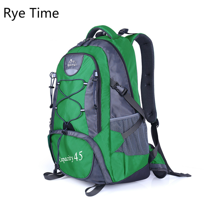 Rye Time new leisure shoulder bag big capacity Backpack 45L Nylon bag Travel bag man and women promotion 6pcs bear baby bedding set curtain crib bumper baby cot sets baby bed bumper include bumpers sheet pillow cover