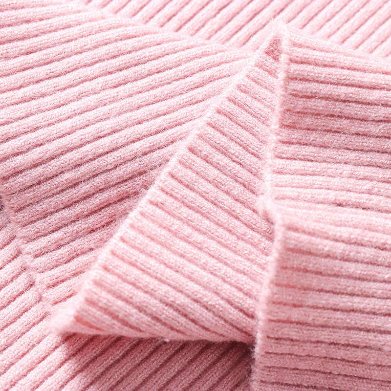 새로운 겨울 여자 여자 풀오버 니트 스웨터 여자 터틀넥 캐주얼 풀 슬리브 풀오버 솔리드 컬러 니트 점퍼 탑스