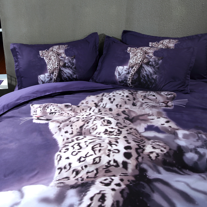 Animal Bedding Set Full Twin Queen King Size Bed Cover Quilt Cover Duvet Cover Leopard Bed Linen 3PCS 100% Polyester