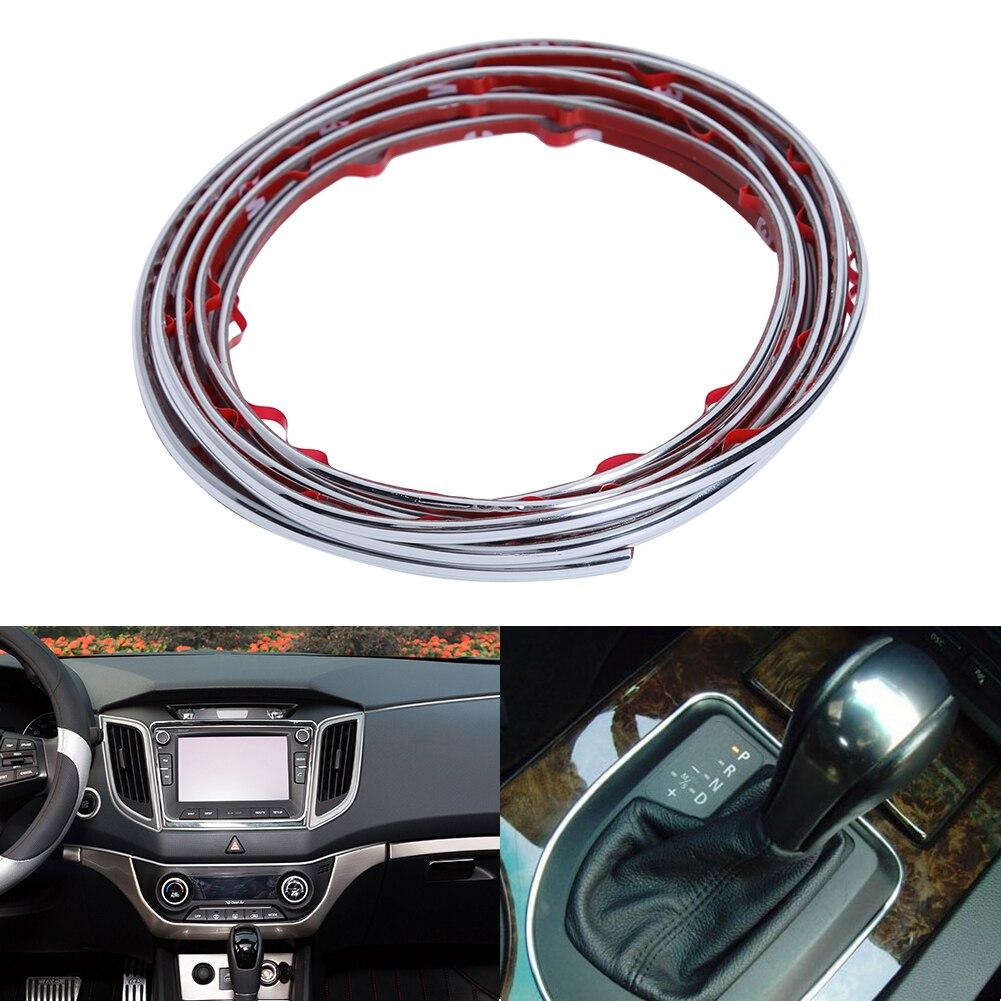 Car Interior Mouldings Trim Strip Sticker Car Center Console Decoration Door Auto Brand Car-Styling Internal Accessories 4 Color
