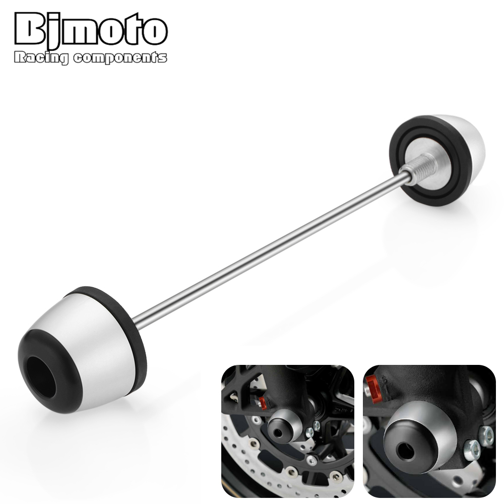 Bjmoto motorcycle R1200GS LC 2013-2017 Front Axle Sliders Fork Wheel Protector Crash Sliders For BMW R1200GS ADV Adventure 14-17 акрапович для бмв r1200gs 2013