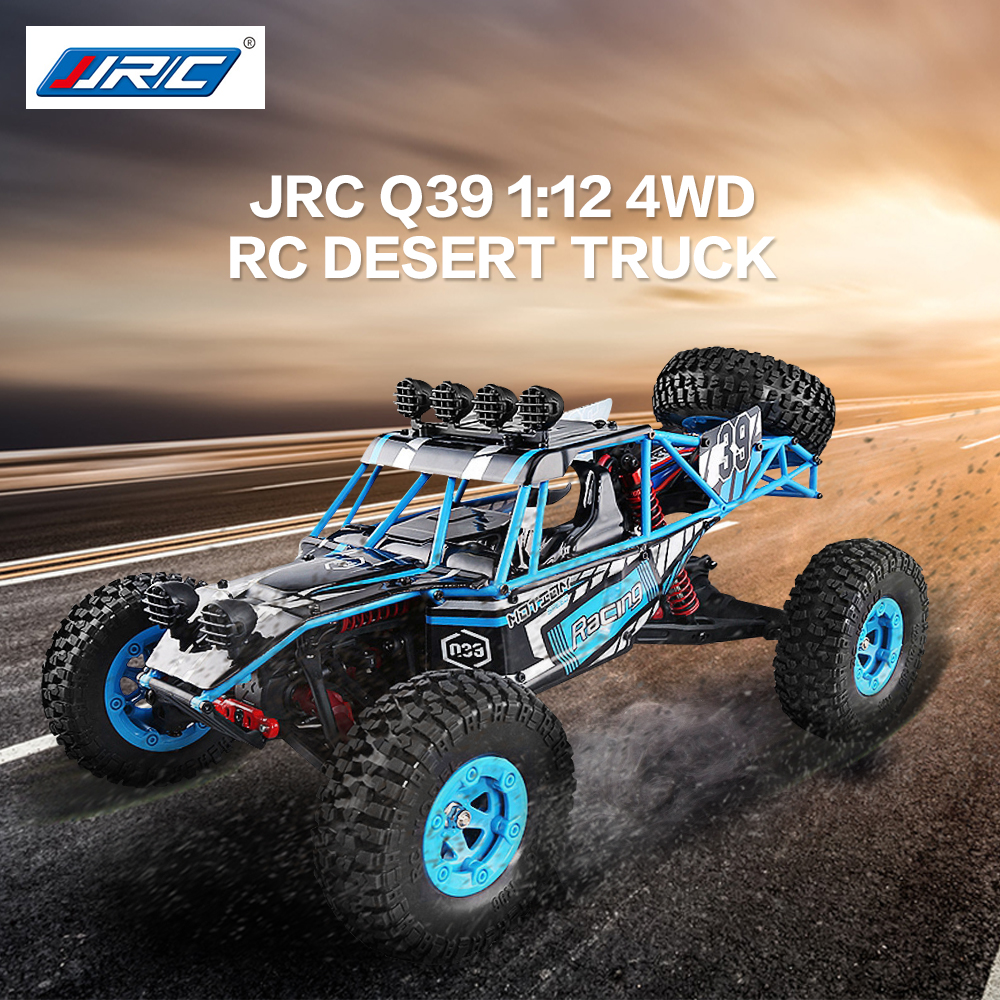 2018 New JJRC Q39 1:12 4WD RC Desert Truck RTR 35km/h+ Fast Speed 1kg High-torque Servo 7.4V 1500mAh LiPo Battery F22485 ...