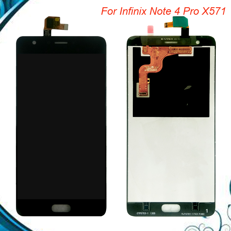 High Quality Digitizer For Infinix Note 4 Pro X571 Touch Panel + LCD Display Screen Assembly Replacement Parts