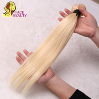 Facebeauty Hair 613 Blonde Brazilian Hair Bundles 1Pcs Straight Weave Remy Human Hair Extensions 8inch To