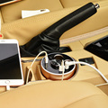 2 usb tomada do carregador do cigarro do carro mais leve veículo poder copo de energia com adaptador de fone de ouvido sem fio para iphone samaung xiaomi htc