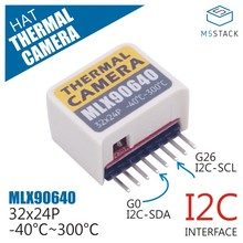 M5StickC ESP32Mini IoT Development Board Compatible Thermal Camera Hat(MLX90640) Thermal Imaging Camera Sensor Module