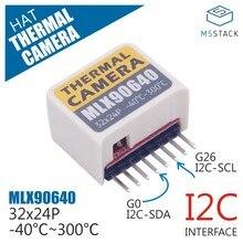 M5StickC ESP32Mini IoT плата для разработки совместимая тепловая камера шляпа (MLX90640) модуль датчика тепловизионной камеры