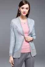 pleated a small shawl jacket summer office elastic air conditioner pleated blouse FREE SHIPPING