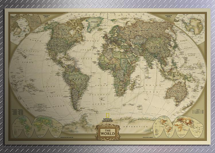 1pcs large vintage world map home decoration detailed antique poster 1pcs large vintage world map home decoration detailed antique poster wall chart retro paper matte kraft paper map of world in painting calligraphy from publicscrutiny Gallery