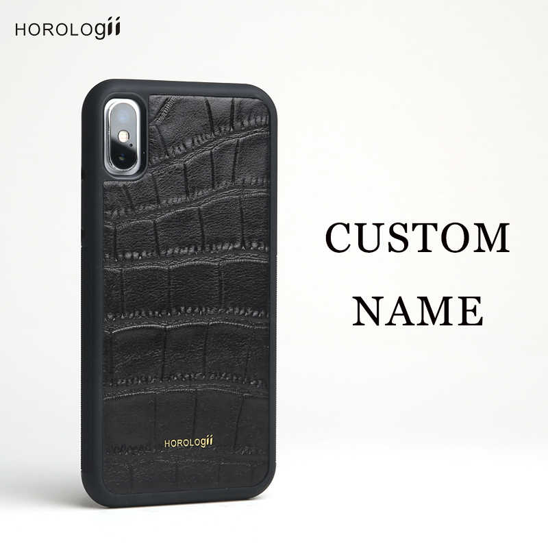 9d2e783d78 ... CUSTOM NAME AVAILABLE Horologii Luxury Leather Phone Case For iPhone X  8 7 Plus Case Protective ...