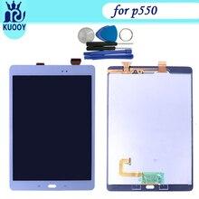 P550 LCD Layar Sentuh baru Untuk Samsung Galaxy Tab 9.7 SM-P550 P550 Layar Sensor Kaca Panel Sentuh Digitizer Perakitan + ALAT