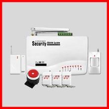 GSM01 Беспроводной/проводной Телефон SIM GSM Домашняя Охранная GSM Сигнализация Английский Русский Spansih Голосовые Подсказки Сигнализация Датчик комплект