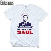 Nuevo Llega 2017 Better Call Saúl Diseño Hombres Camiseta BREAKING BAD Manga Corta camisetas Divertidas Saul Goodman Impreso Tops