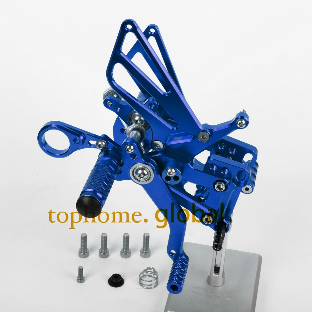 Free Shipping Motorcycle Parts Blue CNC Rearsets Foot Pegs Rear Set For BMW  S1000RR 2012-2013 2014 New motorcycle foot pegs