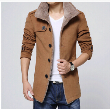 Free shipping 2016 autumn winter wool coat men long wool coat of cultivate one s morality
