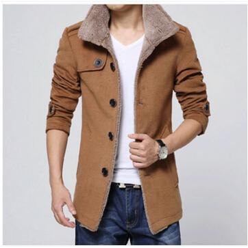 Frete grátis! 2016 outono / inverno casaco de lã masculina de lã longo casaco de cultivar um casaco moralidade dos homens