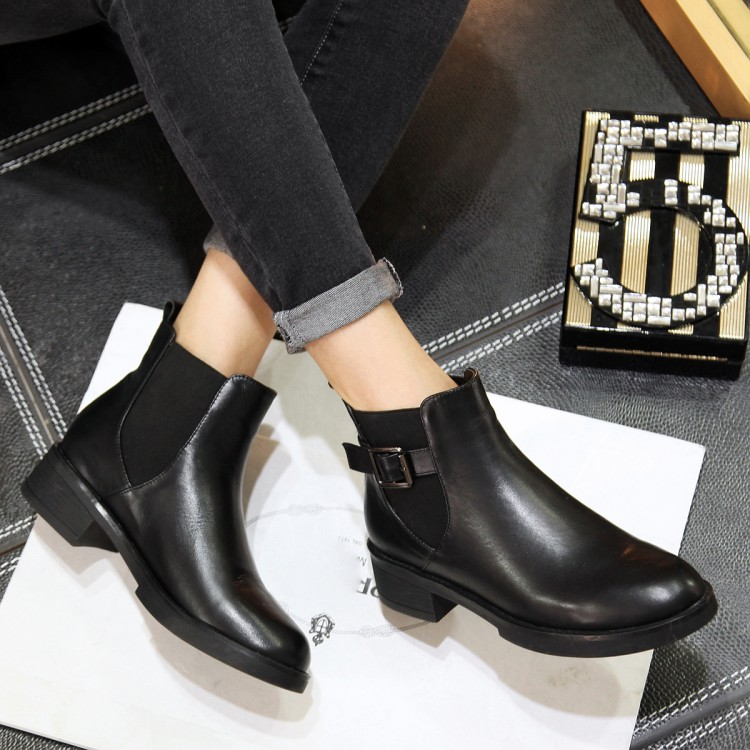 ФОТО 34-40Women 's Boots 2016 stylish casual buckle breathable comfortable real leather boots