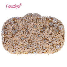 Fawziya Evening Clutch Bags Flower Rhinestone Purse For Wedding Clutch Handbags For Women