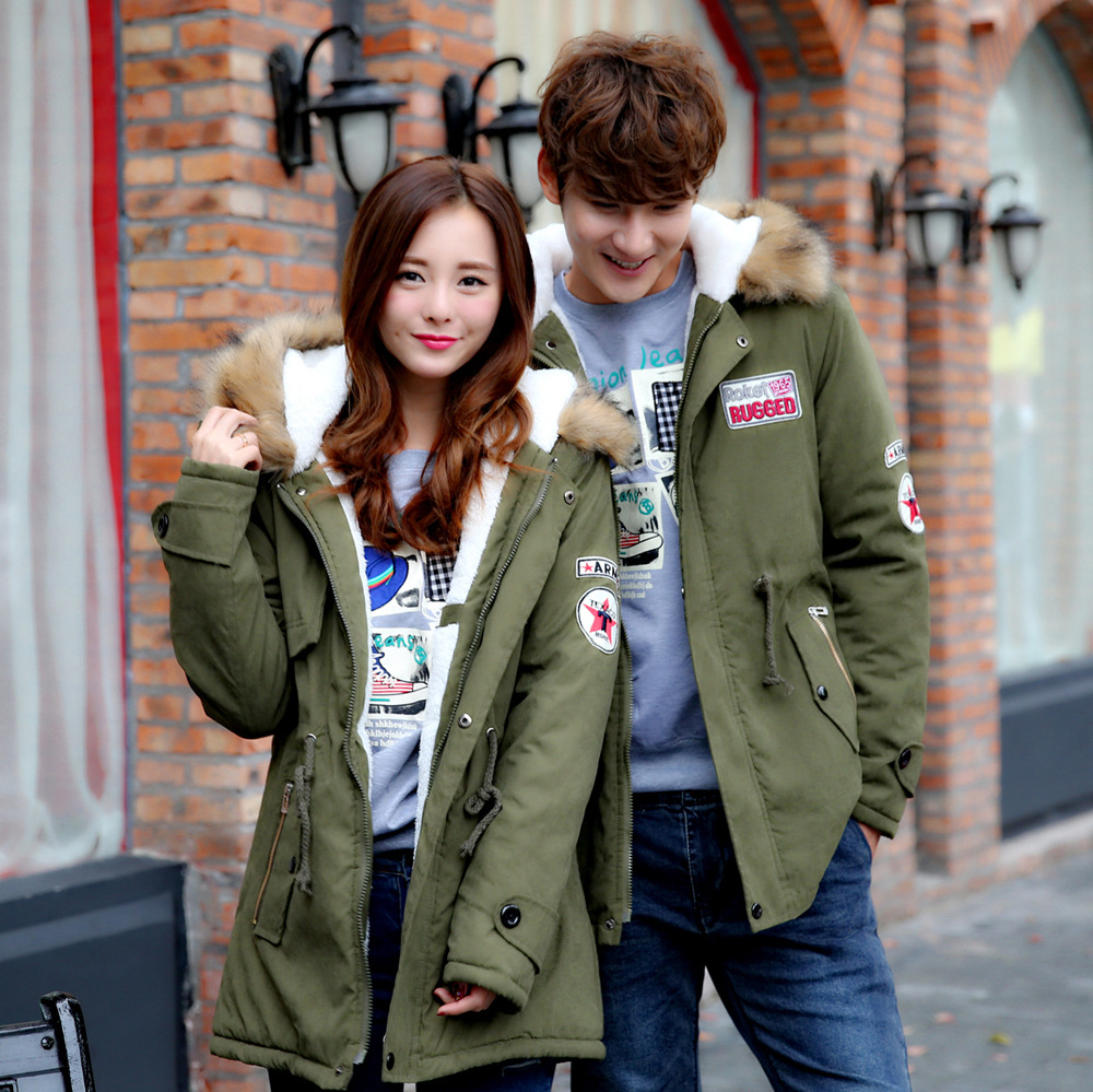 ФОТО 2017 new winter tide Lovers thickened in the long warm fur coat jacket size mens jacket