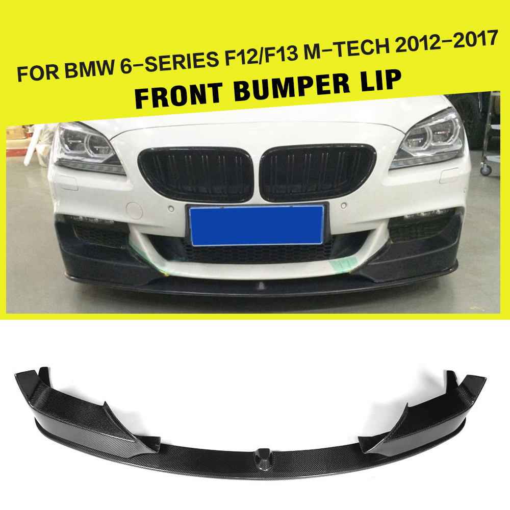 Carbon Fiber / FRP Black Auto Front Bumper Lip Spoiler Splitters for BMW F06 F12 F13 M tech M Sport 2012 - 2016Carbon Fiber / FRP Black Auto Front Bumper Lip Spoiler Splitters for BMW F06 F12 F13 M tech M Sport 2012 - 2016