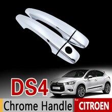 Для Citroen DS4 2010- хром Ручка крышки отделки комплект DS 4 2011 2012 2013 наклейки на автомобиль стайлинга автомобилей