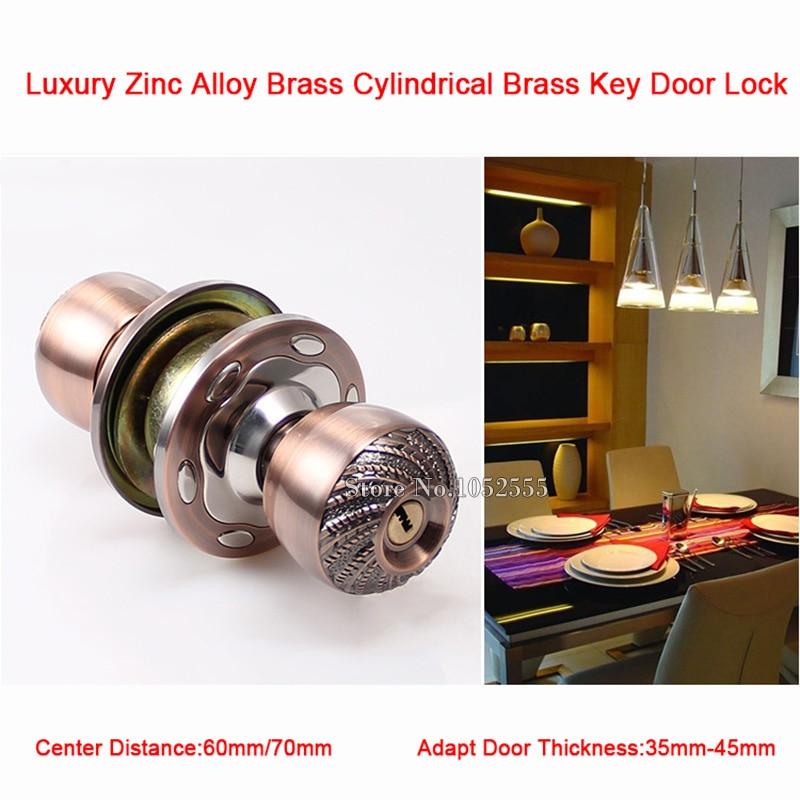 High Quality Brass Cylinder Door Lock Round Ball Door Knobs TUBULAR ...
