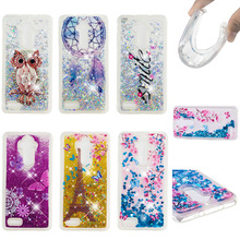 LUCKBUY Case For ZTE Zmax Pro Soft TPU Clear Butterly Flower Glitter Liquid Quicksand Phone Cases for Z981 Z983 Z986 N956