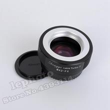 Mitakon Zhongyi objectif Turbo II réducteur de focale adaptateur Booster pour objectif de monture M42 vers Fujifilm XF X monture caméra X Pro2 X T3 X T2 T1