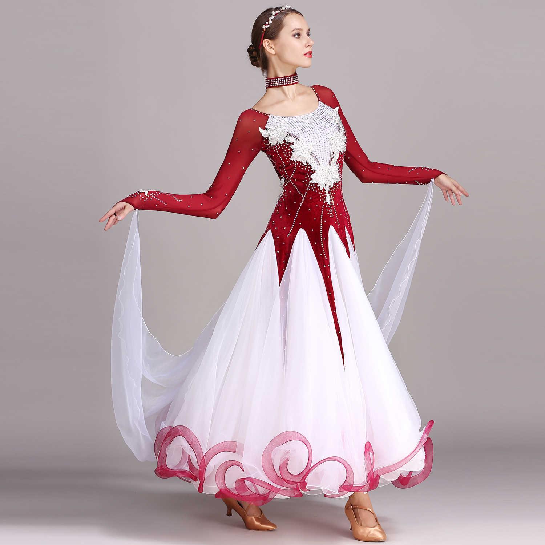 MEI YU S7017 современный танцевальный костюм Женская танцевальная одежда вальцинг Танго танцевальное Платье Бальный костюм вечернее платье