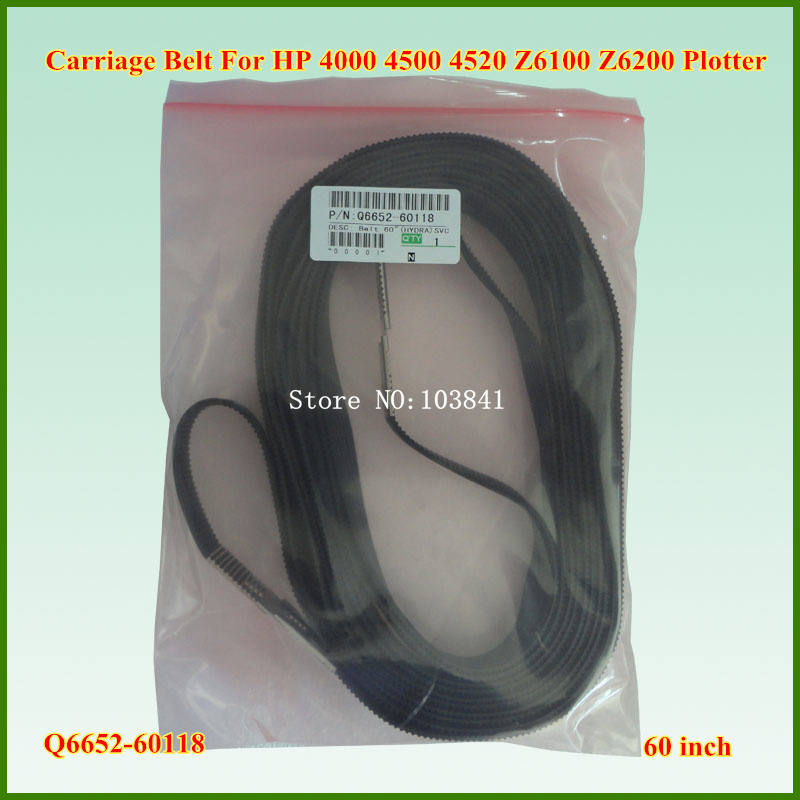Super quality Q6652 60118 60 inch New Carriage Belt For HP designjet  Z6100 Z6200 T7100 Plotter-in Printer Parts from Computer & Office    1