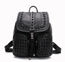 Yesetn сумка 101916 женщин кожа рюкзак женский заклепки сумка