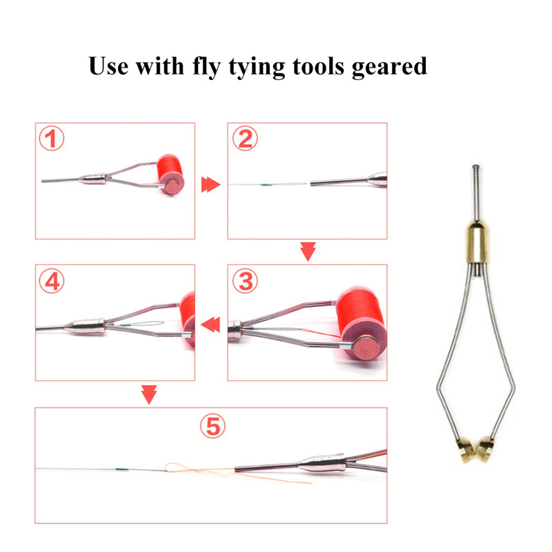 Image 5 - 1 PCS Fly Tying Whip Finisher Fly Tying Bobbin Thread Holder Fishing Bait Making Processing Tools-in Fishing Tools from Sports & Entertainment