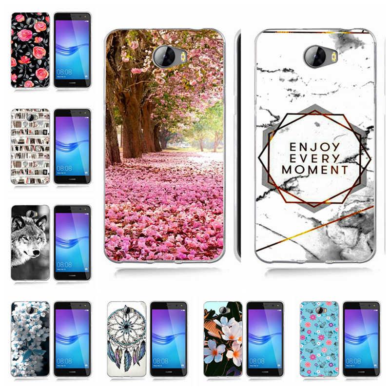 Для Huawei P9 Lite/P8 Lite/P10 Lite Y5 ii Y5ii крышка/5A LYO-L21/Y6 II цветы живопись картины сумки из ТПУ крышка Fundas основа A805