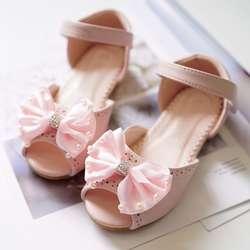 Летние детские сандалии, модные сандалии с бантом для девочек, обувь на плоской подошве, сандалии для малышей, Meisje Infant