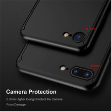 360 Full Coverage Case for iPhone 7 7 Plus for iPhone 6 6S Plus for iPhon 5S SE Case with Tempered Glass Protector