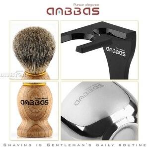 Image 3 - Anbbas בארבר גילוח מברשת גירית שיער, ברור אקריליק Stand, קערת סט