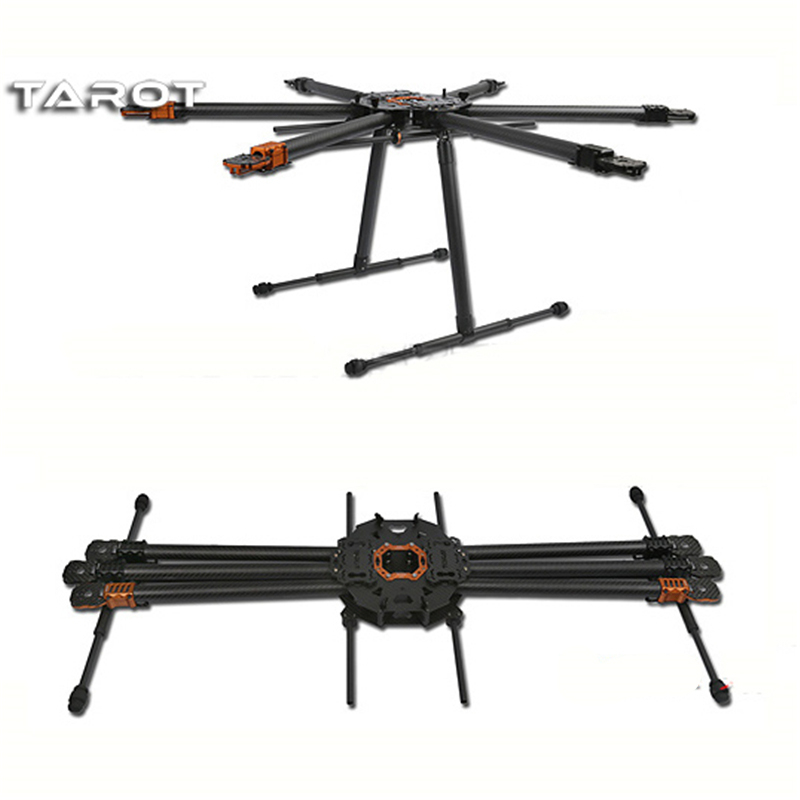 Фото Tarot T810 Folding Hexacopter Carbon Fiber FPV Multicopter Six Rotor Aircraft Frame Set TL810A f/ RC Photography
