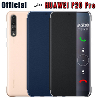Official For Huawei P20 Pro Case Leather Flip Wake Up Sleep Leather Flip Phone Case Cover
