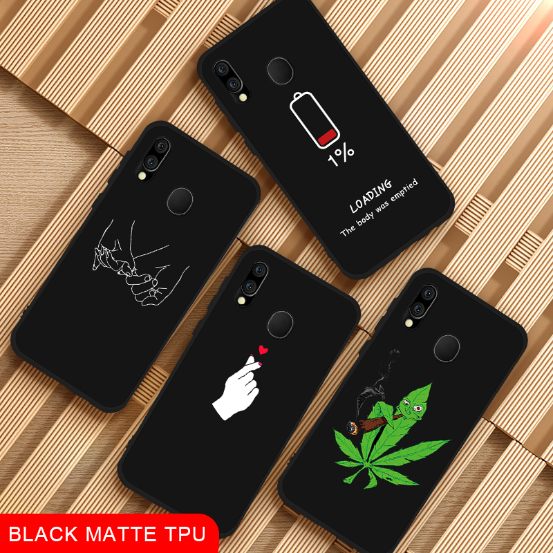 Black Matte <font><b>Phone</b></font> <font><b>Case</b></font> For <font><b>Samsung</b></font> <font><b>Galaxy</b></font> M20 M30 M10 For <font><b>Samsung</b></font> A70 A50 <font><b>A40</b></font> A10 Plus A8S A9 2018 A9S Bags Cover Coque <font><b>Cases</b></font> image