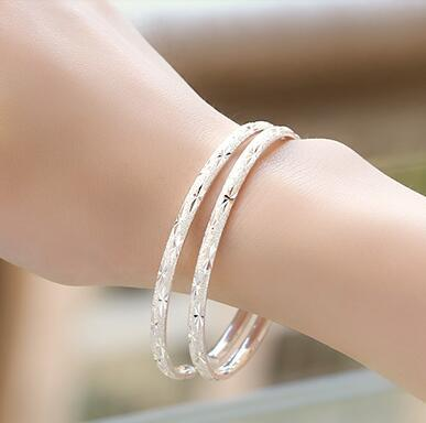AGOOD 2017 925 sterling silver bracelets & bangles for women pulseiras love carters sky star pattern h pure silver bangle