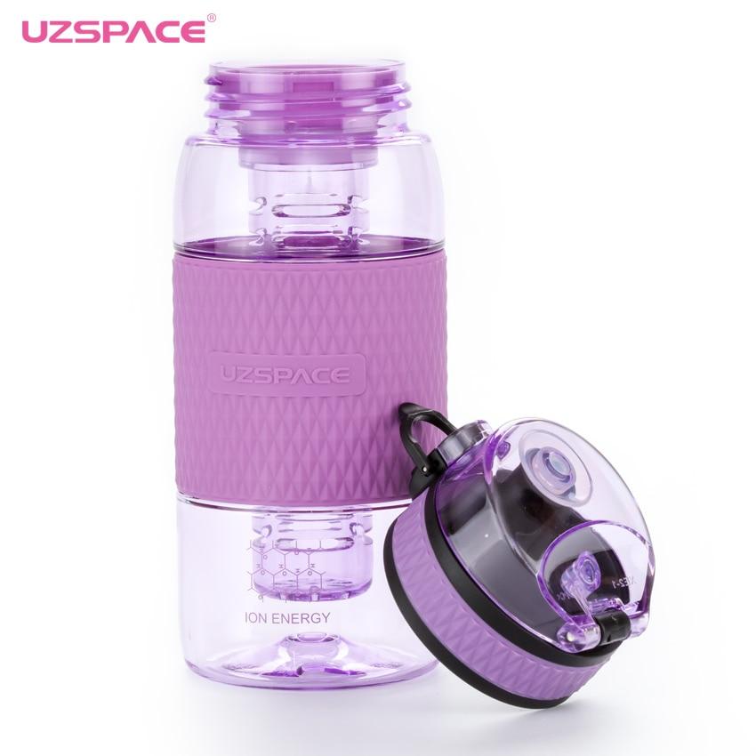 UZSPACE 350ml Water Bottle Kids Girls lemon Fruit Tea Infuser Outdoor Sport Plastic Drink bottle Portable Kettle Tritan BPA Free|Water Bottles|   - AliExpress