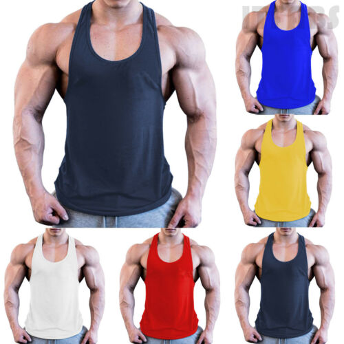 Men's Gym Singlet Training Bodybuilding Tank Top Vest Sleeveless Fitness