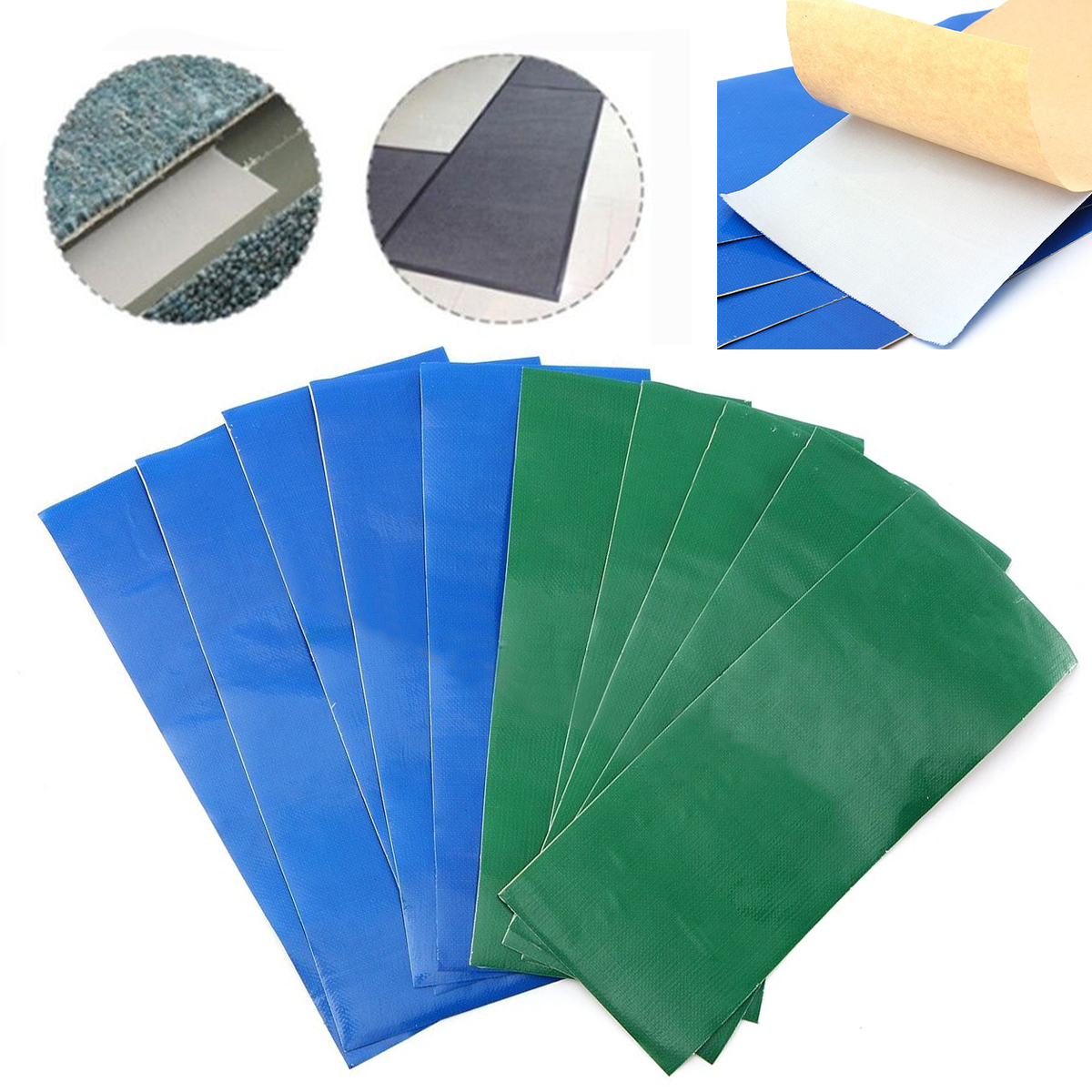 Mayitr 5pcs/lot Self Adhesive Waterproof Stickers Cloth Patches Mend Down Outdoor Tent Repair Tape Patch Tent Repair Accessories