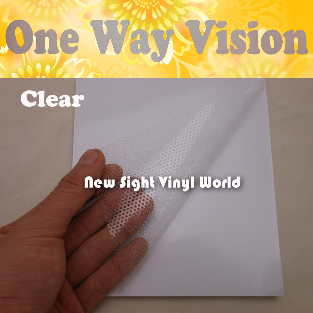 Printable Solvent Clear One Way Vision Glass Film Window