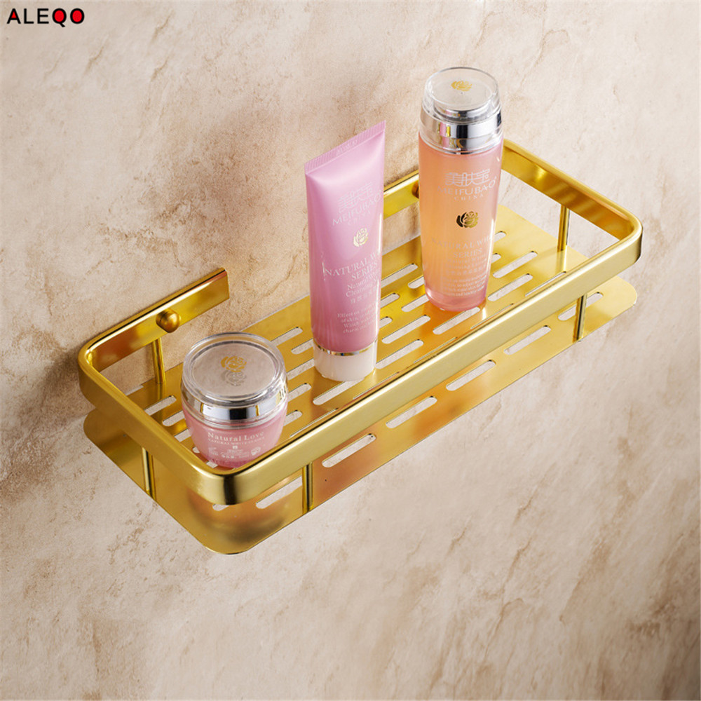 Vogue Aluminum Storage Rack Shelf Advanced Modern Luxury Gold Wall ...