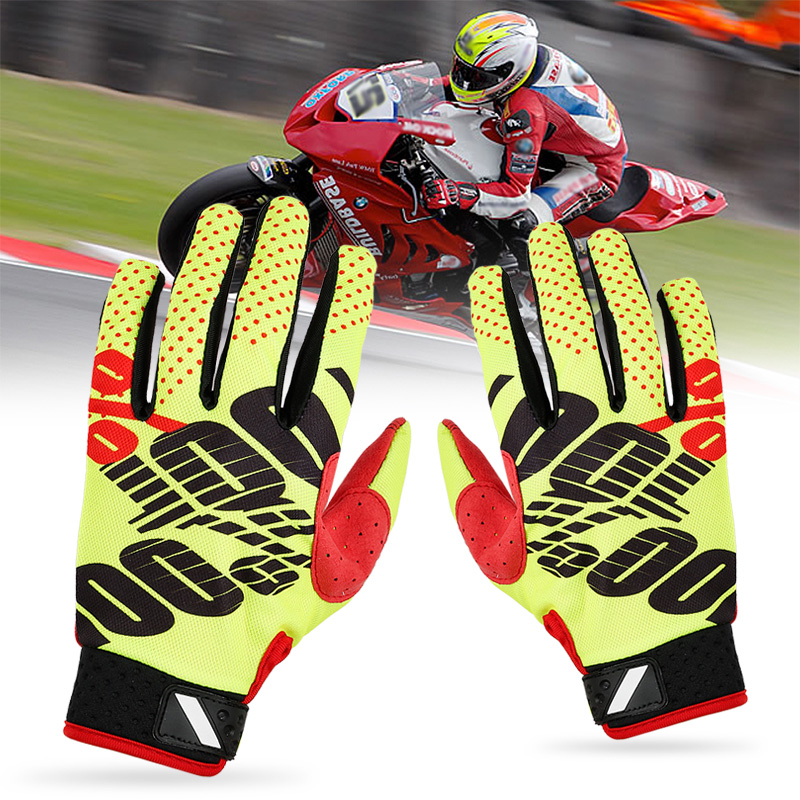 Racing-Gloves Downhill Cycling Motorcycle Genuine-Cloth Riding Super-Fiber 1-Pair Comfortable