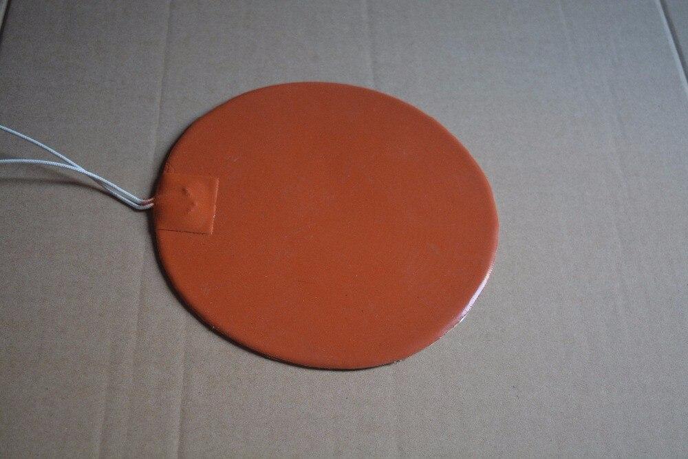 Almohadilla térmica de silicona calentador 220 V 100 W circular de 180mm para im
