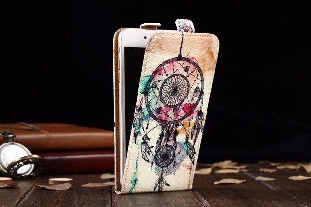 FSSOBOTLUN pour BQ BQ-6000L Aurora étui de luxe dessin animé peinture sac de téléphone vertical flip haut et bas PU couverture en cuir BQ 6000L