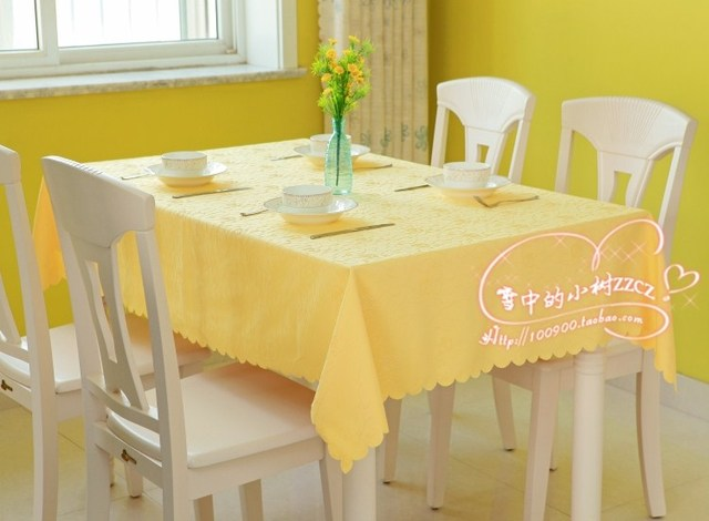 Rectangle table cloth round table customize chromophous measurement yellow and different colors